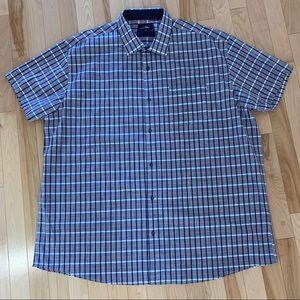 Black Ice Short Sleeve Sport Shirt 3XT (3 XL Tall)